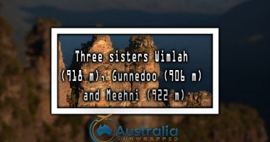Three sisters Wimlah (918 m), Gunnedoo (906 m) and Meehni (922 m)