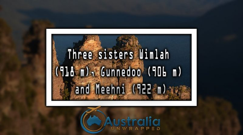 Three sisters Wimlah (918 m), Gunnedoo (906 m) and Meehni (922 m)