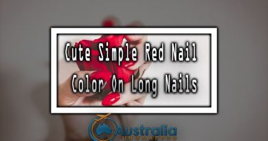 Cute Simple Red Nail Color On Long Nails