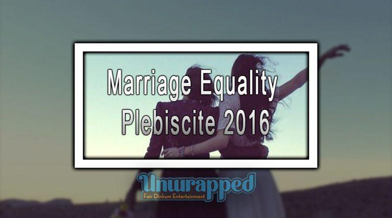 Marriage Equality Plebiscite 2016