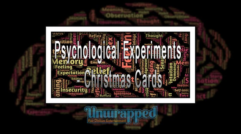 Psychological Experiments - Christmas Cards