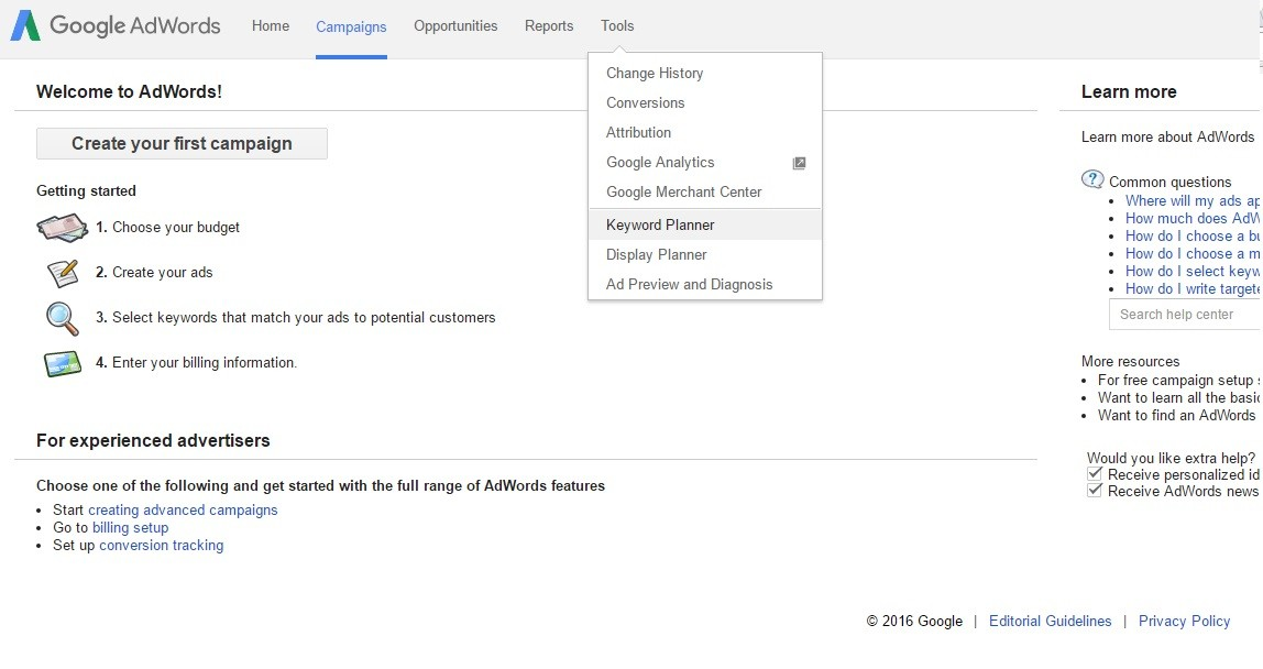 Google Adwords For Keyword Research To Write Seo Friendly Posts