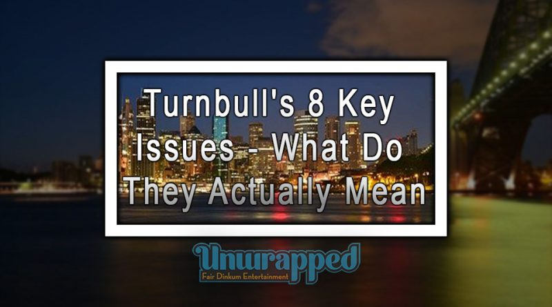 Turnbull's 8 Key Issues - What Do They Actually Mean