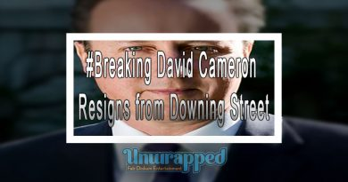 #Breaking David Cameron Resigns from Downing Street
