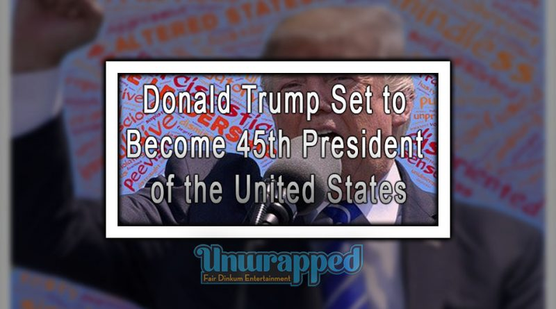 Donald Trump Set to Become 45th President of the United States
