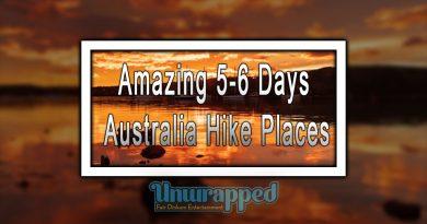Amazing 5-6 Days Australia Hike Places