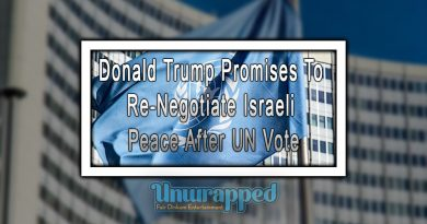 Donald Trump Promises To Re-Negotiate Israeli Peace After UN Vote