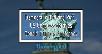 Democratic Huff and Puff - US Congress certifies Donald Trump's Presidency