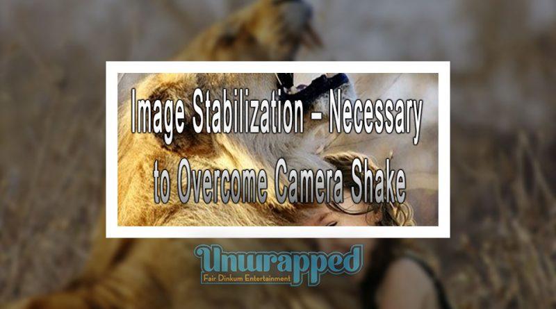 Image Stabilization – Necessary to Overcome Camera Shake