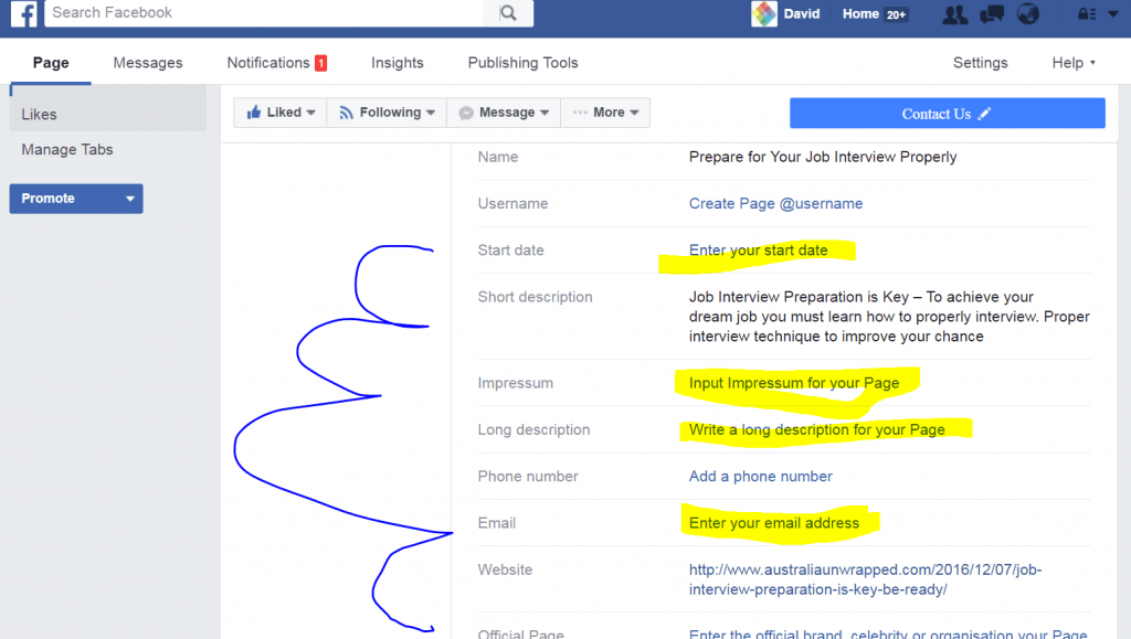 Facebook Page Creation Step by Step