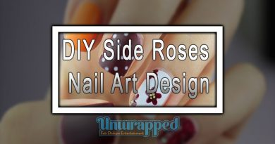 DIY Side Roses Nail Art Design
