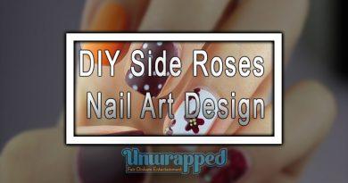 DIY Side Roses Nail Art Design