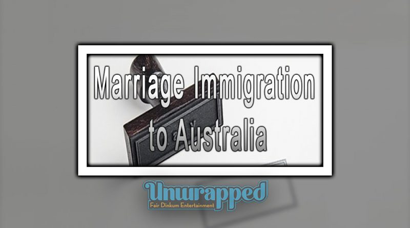 Marriage Immigration to Australia