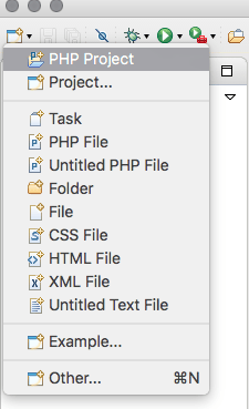 Create a new PHP project