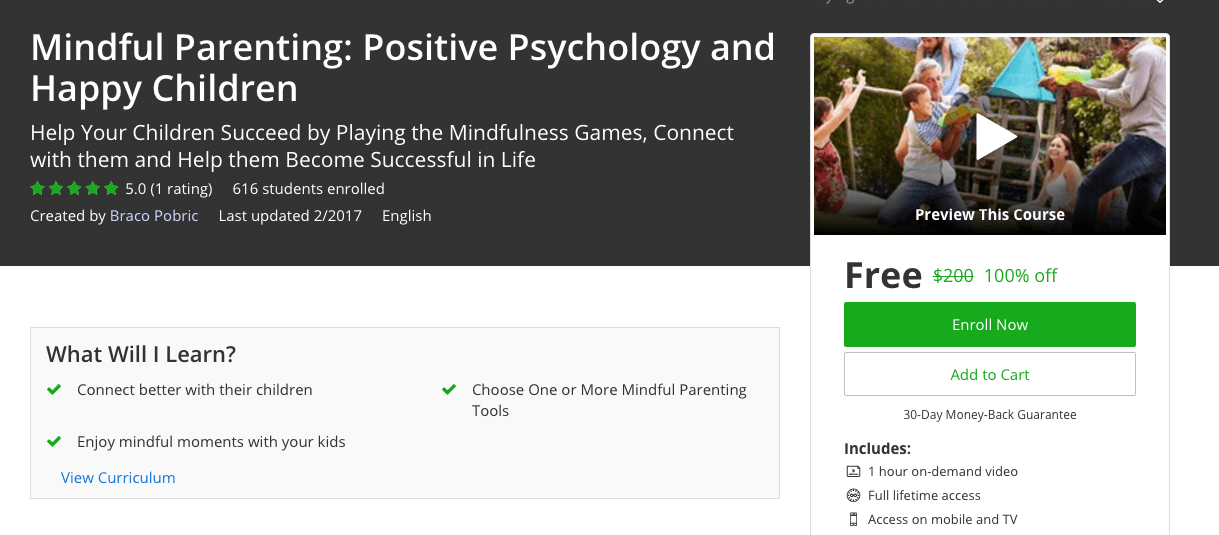 100% off udemy premium course - Mindful Parenting: Positive Psychology and Happy Children