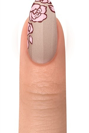Step 6 - Side Roses Nail Art