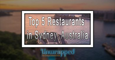 Top 5 Restaurants in Sydney, Australia