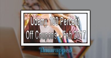 Udemy 100 Percent Off Coupons - Feb 2017