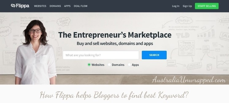 How Flippa helps bloggers to find best keyword?