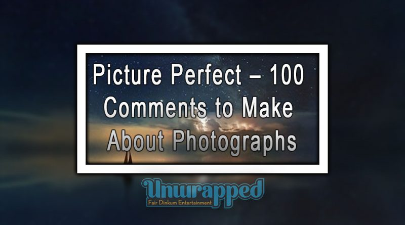 Picture Perfect – 100 Comments to Make About Photographs