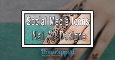 Social Media Icons Nail Art Designs