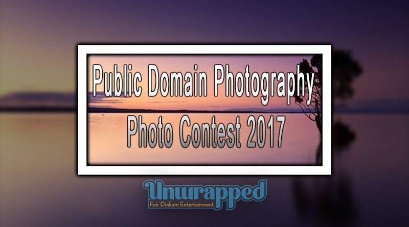 Public Domain Photography Photo Contest 2017