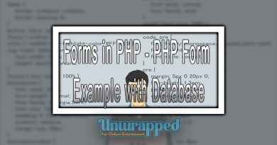 Forms in PHP - PHP Form Example with Database