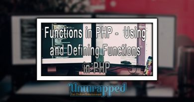 Functions in PHP - Using and defining Functions in PHP