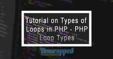 Tutorial on Types of loops in PHP - PHP Loop Types