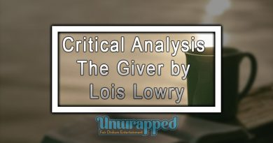 Critical Analysis The Giver by Lois Lowry