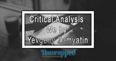 Critical Analysis We by Yevgeny Zamyatin