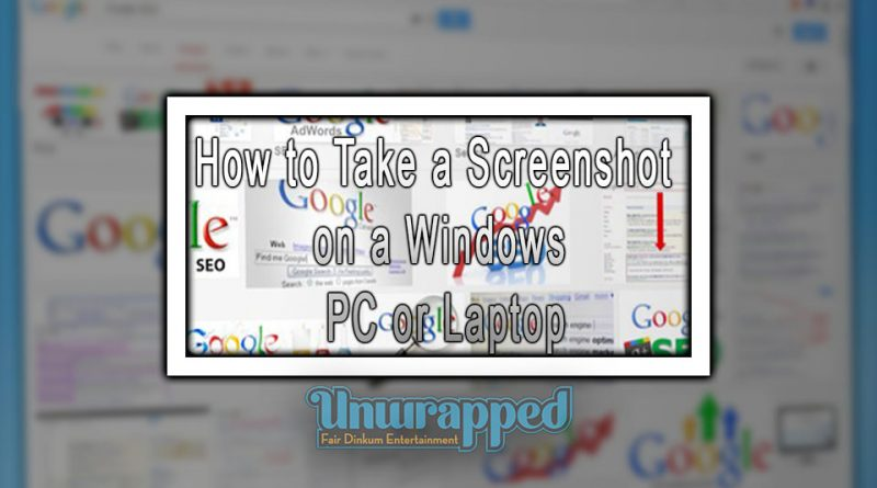 How to Take a Screenshot on a Windows PC or Laptop
