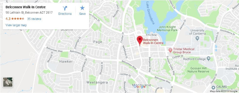 Nurse-Led Walk-In Centre Canberra Location Belconnen