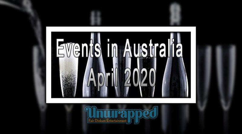 Events in Australia April 2020