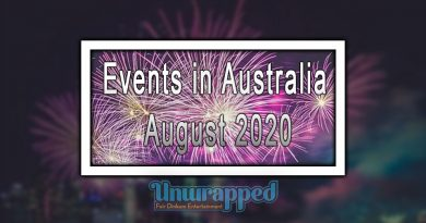 Events in Australia August 2020