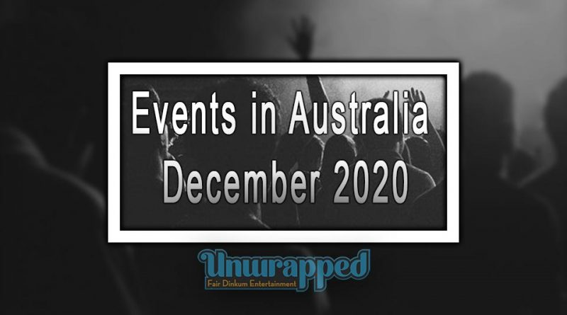 Events in Australia December 2020