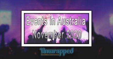 Events in Australia November 2020