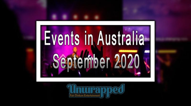 Events in Australia September 2020