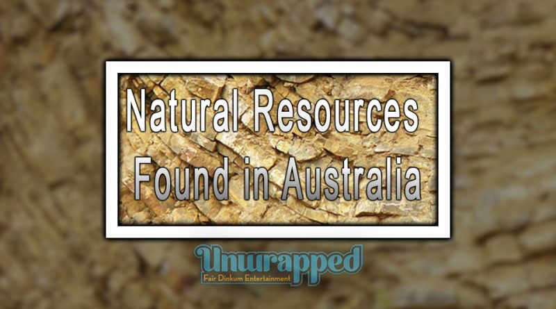 Natural Resources Found in Australia