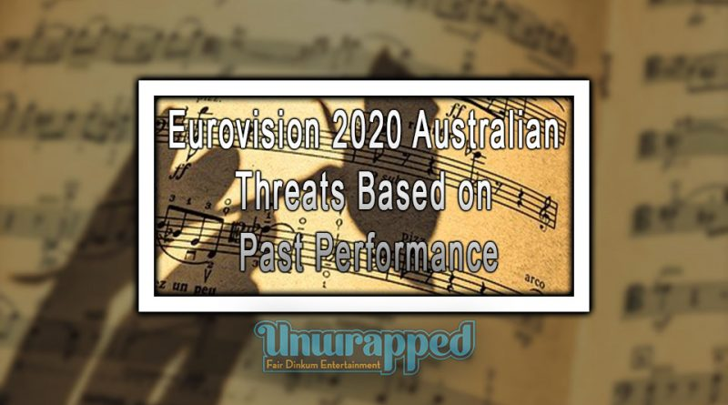 Eurovision 2020 Australian Threats based on Past Performance