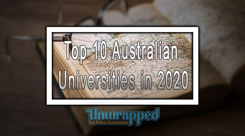 Top 10 Australian Universities in 2020