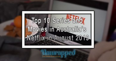Top 10 Series and Movies in Australia's Netflix in August 2019