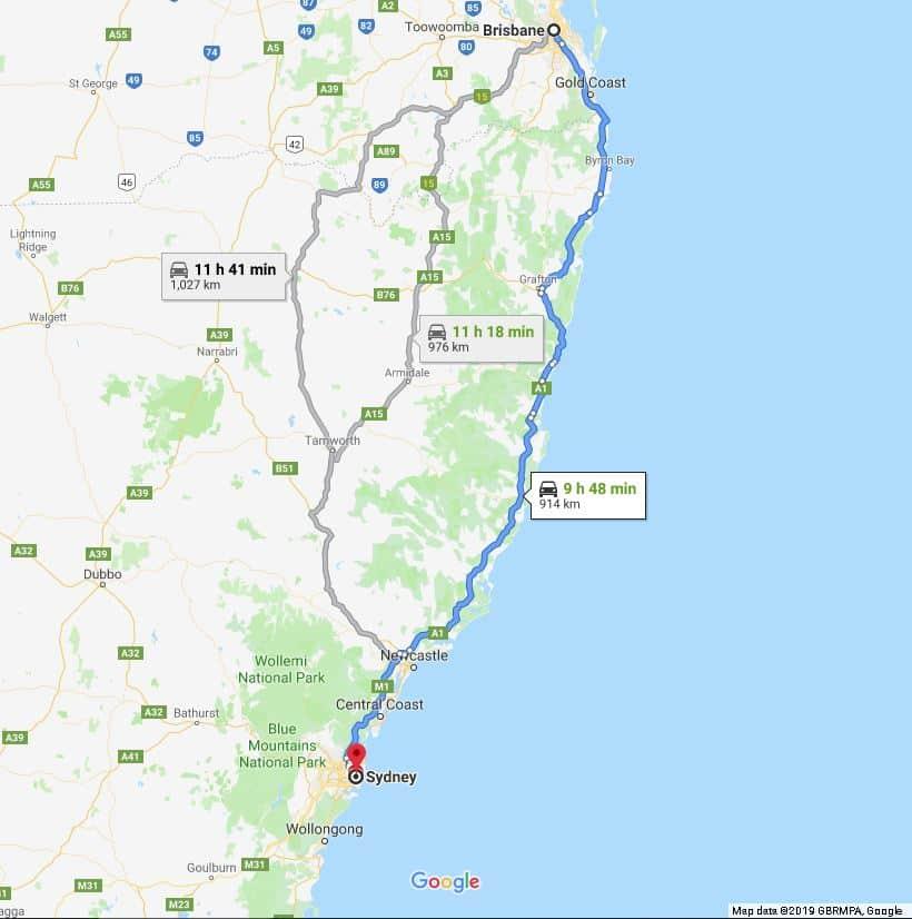 Pacific Highway, Brisbane to Sydney