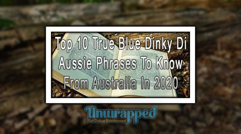 Top 10 True Blue Dinky Di Aussie Phrases To Know From Australia In 2020
