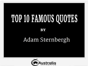 Adam Sternbergh's Top 10 Popular and Famous Quotes