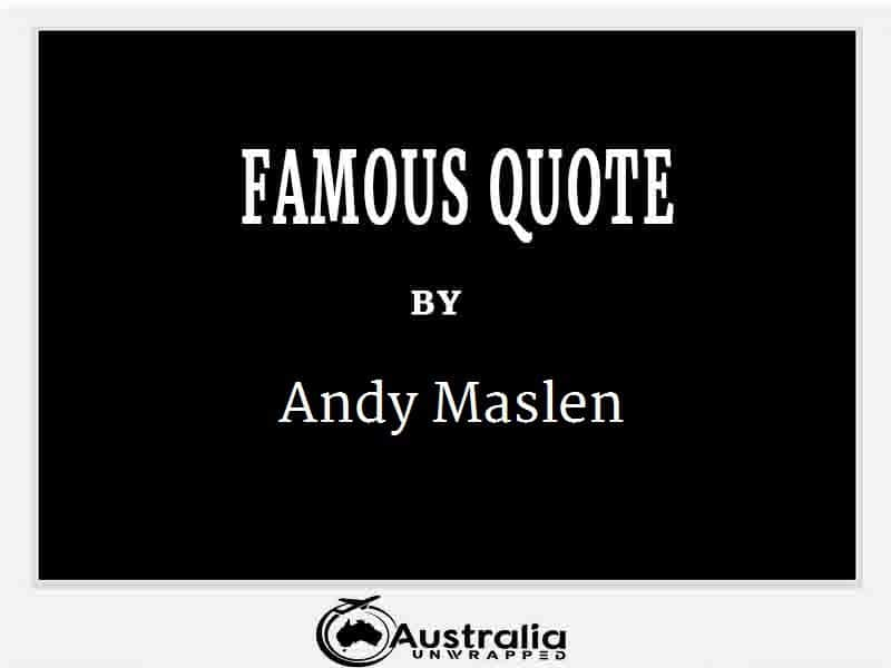 Andy Maslen's Top 1 Popular and Famous Quotes