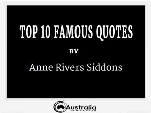 Anne Rivers Siddons's Top 10 Popular and Famous Quotes