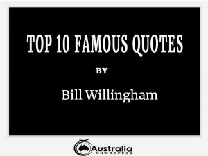 Bill Willingham's Top 10 Popular and Famous Quotes