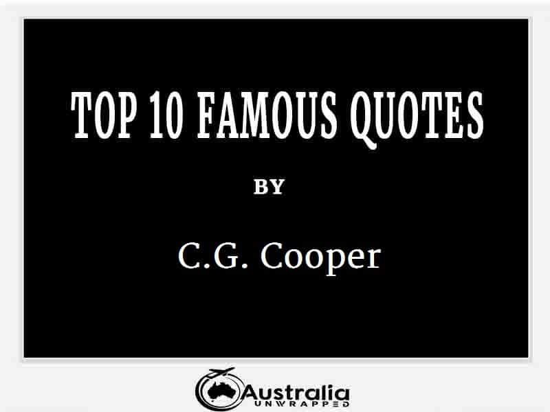 C.G. Cooper's Top 10 Popular and Famous Quotes