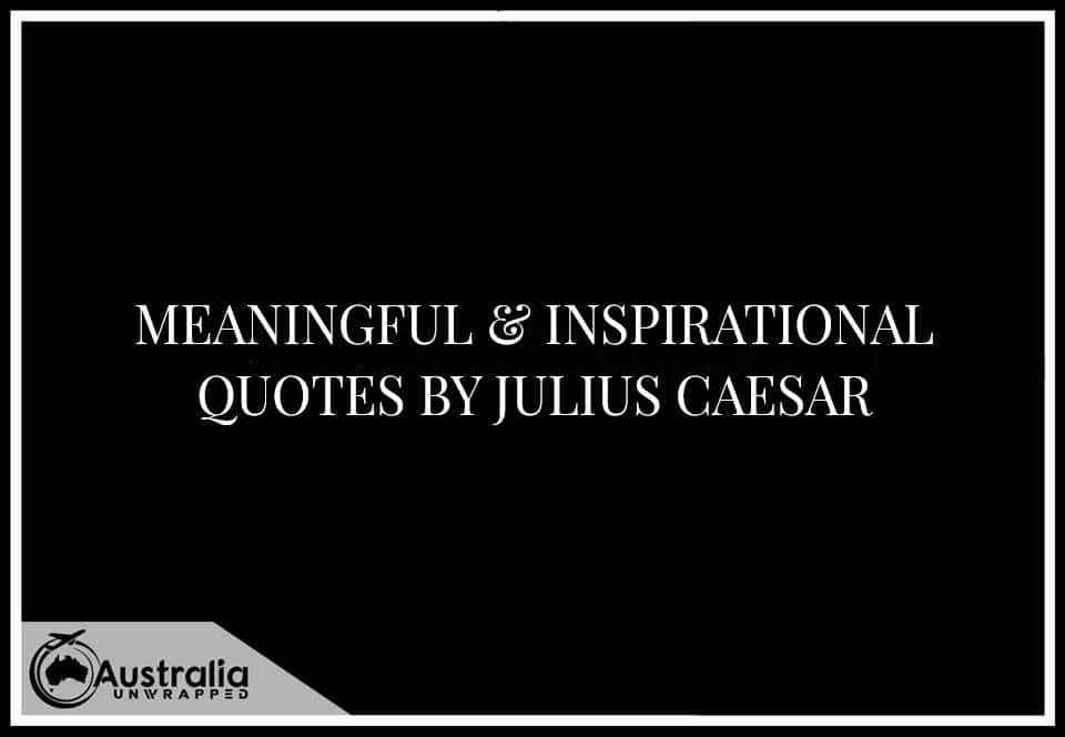 Meaningful & Inspirational Quotes By Julius Ceaser